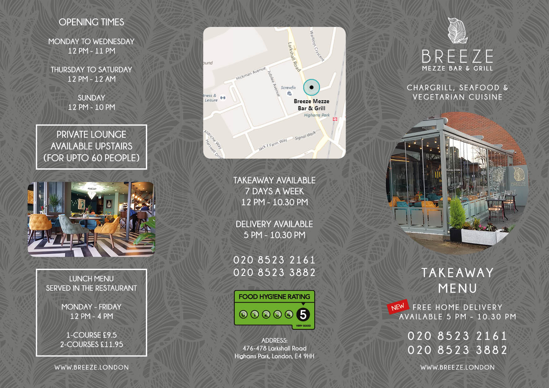 Breeze Restaurant London Highams Park Takeaway Menu (November 2018)